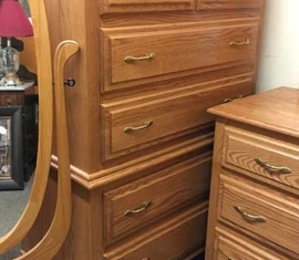 Oak Highboy Dresser