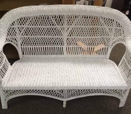 Wicker Bench Love Seat