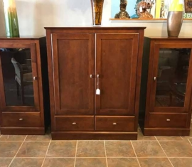 Ethan Allen Armoire Display Cabinets