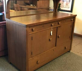 Mission Style Antique Buffet