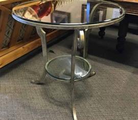 Glass-Top Metal Table
