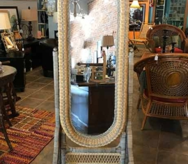 Wicker Dressing Mirror