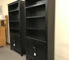 Ebony Bookcases