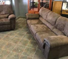 Sofa & Matching Recliner