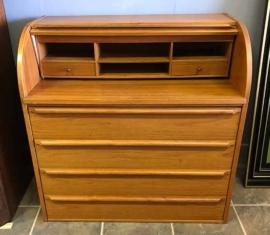 Danish-modern Rolltop Dresser