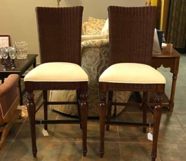 Wicker Wood Bar Stools