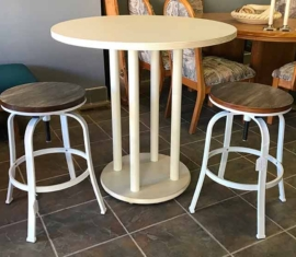 Bistro Table and Adjustable Stools
