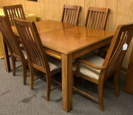 Bassett Furniture Oak Dining Set