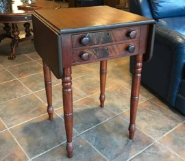 Antique Drop-leaf Lamp Table