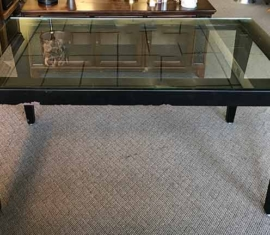 Metal Glass-top Table/Desk