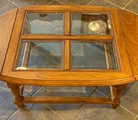 Oak Drop-leaf Coffee Table