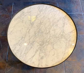 Marble-top End Table