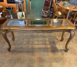 Glass-top Sofa Table