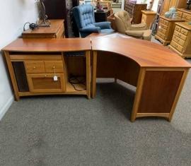 2-Piece Cherry Desk
