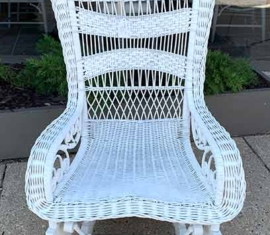 Antique Wicker Glider