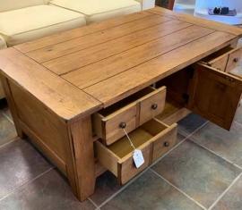 Attic Heirloom Coffee Table-cabinet