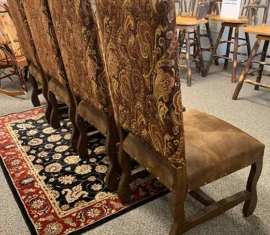 Merida Rustic Suede Dining Chairs