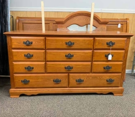Oak Mirror Dresser
