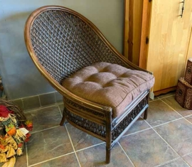 2 Wicker Armless Chairs