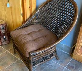 Wicker Armless Chairs