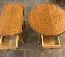 Amish-built Drop-leaf End Tables