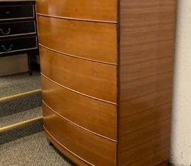Bow-front Highboy Dresser