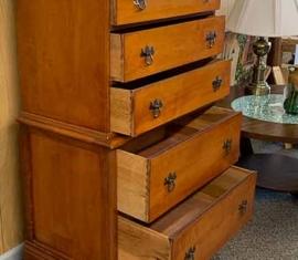 Antique Maple Highboy Dresser