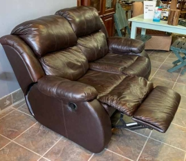 Bonded Leather Recliner Loveseat