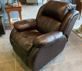 Bonded Leather Rocker Recliner
