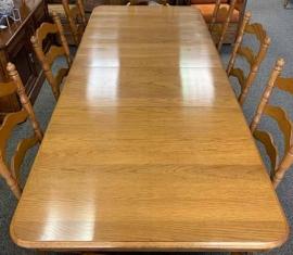 Wabash Oak Dining Table