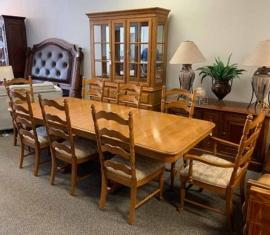 Wabash Oak Dining Set