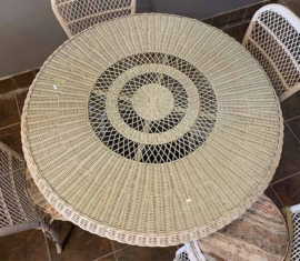 Antique Wicker Dining Table