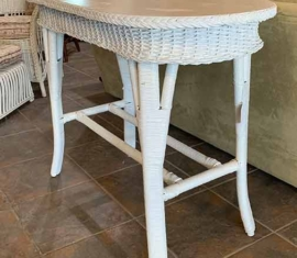 Antique Wicker Sofa Table