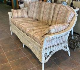 Antique Wicker Sofa
