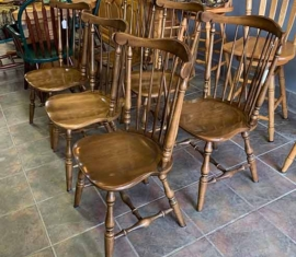 6 Ethan Allen Windsor Dining Chairs