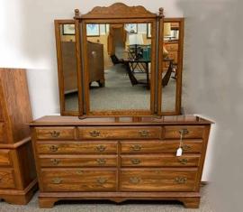 Pennsylvania House Oak Mirror-Dresser