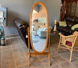 Standup Oak Mirror