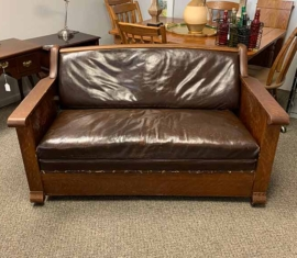 Antique Mission-Style Sleeper Sofa