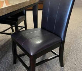 4 Bonded Leather Chairs