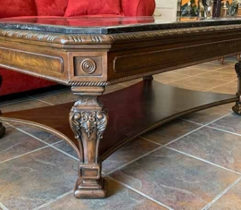 Marble-trim Coffee Table
