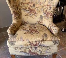 Hunting Dog Wingback Chair